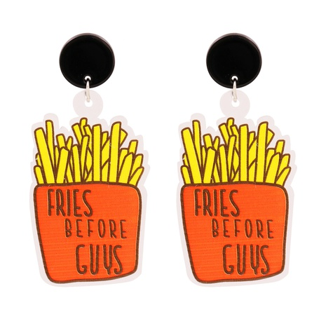 Acrylic French Fries Pendant Earrings NHJJ318807's discount tags