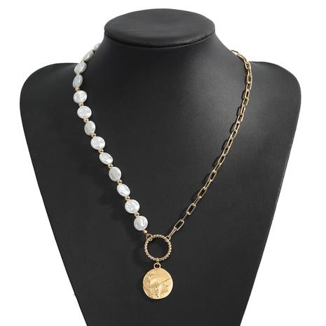 collier pendentif portrait de mode perle en alliage NHJQ318818's discount tags