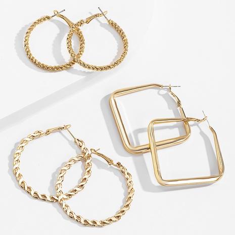 einfache Retro goldene Ohrringe gesetzt NHXR318830's discount tags