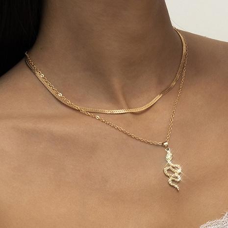 retro micro diamond serpentine pendant necklace NHXR318833's discount tags