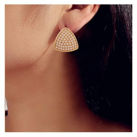 Boucles d'oreilles géométriques coréennes en alliage simple incrusté de perles NHCT318838's discount tags