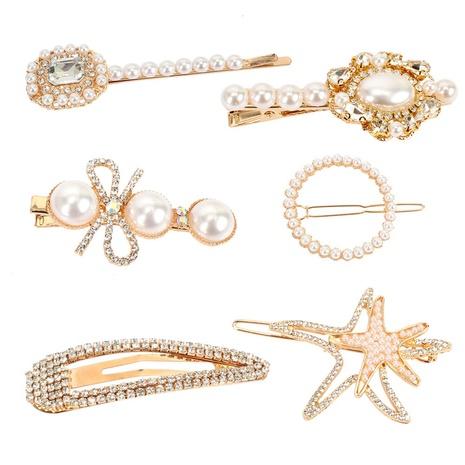 Pince à mot en perles incrustées de style bohème NHCT318849's discount tags