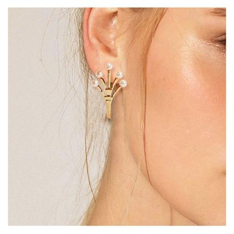 Boucles d'oreilles élégantes coréennes en alliage incrusté de perles de palme NHCT318853's discount tags