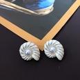 NHOM1469466-Spiral-silver-needle-stud-earrings-2.32.8cm