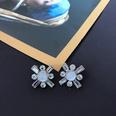 NHOM1469470-Cross-Rhinestone-Silver-Pin-Stud-Earrings-2.6cm
