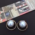 NHOM1469523-Metal-ring-hollow-silver-needle-stud-earrings