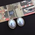 NHOM1469524-Large-oval-silver-needle-stud-earrings-1.92.7-cm