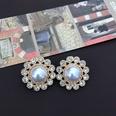 NHOM1469525-Round-pearl-diamond-silver-pin-stud-earrings