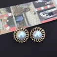 NHOM1469527-Hollow-lace-silver-needle-stud-earrings