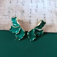 NHOM1469479-Green-3-petal-silver-needle-1.83cm