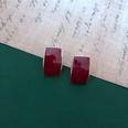 NHOM1469440-Rectangular-silver-needle-stud-earrings-1.22.1cm