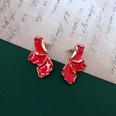 NHOM1469447-Petal-shaped-silver-needle-stud-earrings-1.73cm