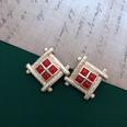 NHOM1469449-Square-vintage-silver-needle-stud-earrings-3-cm