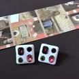 NHOM1469544-Baguette-colored-gemstone-and-stud-earrings
