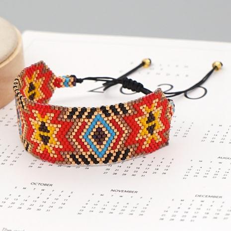 Retro handgemachte Perlen Webpaar Paar Armband NHGW318872's discount tags