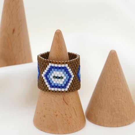 anillo de ojos de diablo con cuentas de estilo étnico tejido a mano NHGW318876's discount tags