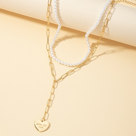 collier de couture de chaîne de perles simple à la mode NHQJ318891's discount tags
