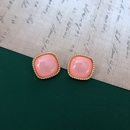 retro red glaze earrings  NHOM318904