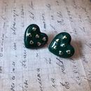 Oil Painting Green Drop Glaze Earrings  NHOM318907