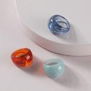 fashion simple resin acrylic ring NHLU318940
