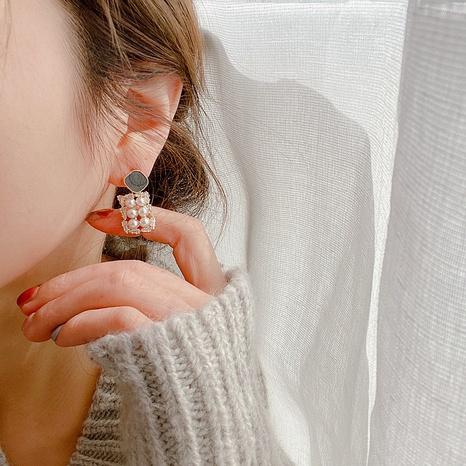 Boucles d'oreilles perles géométriques coréennes NHHI318972's discount tags