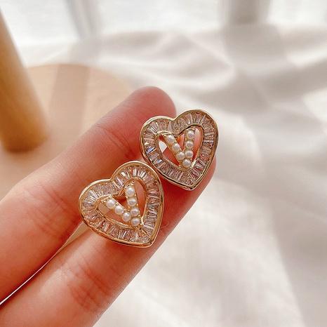 Boucles d'oreilles coréennes pleines de diamants NHHI318973's discount tags