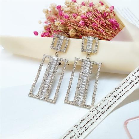 Boucles d'oreilles coréennes géométriques Zircon NHVA318999's discount tags