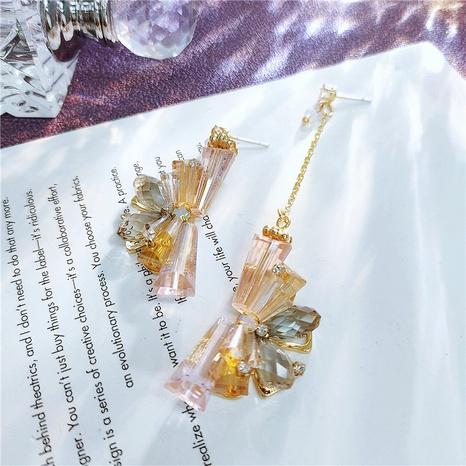 lange asymmetrische künstliche Kristallohrringe NHVA319026's discount tags