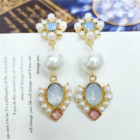 Boucles d'oreilles fleurs rétro coréennes NHVA319048's discount tags