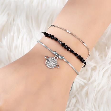 Modisches, mit Diamanten besetztes Universum-Anhänger-Kristallarmband-Set für Damen NHQC319069's discount tags