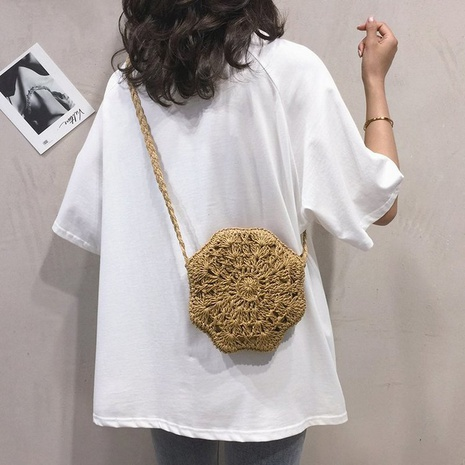 new simple hollow portable woven shoulder bag  NHTG325762's discount tags