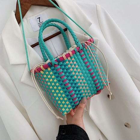 Candy color new trendy woven messenger bag NHTG325763's discount tags