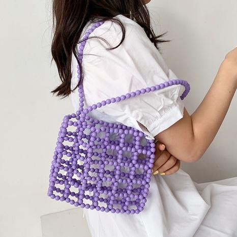 Sac à bandoulière carré portable perlé à la mode NHTG325776's discount tags