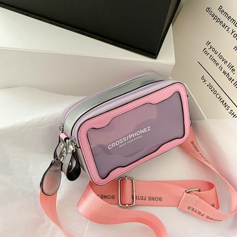 Sac à bandoulière transparent de couleur contrastée coréenne NHTG325793's discount tags