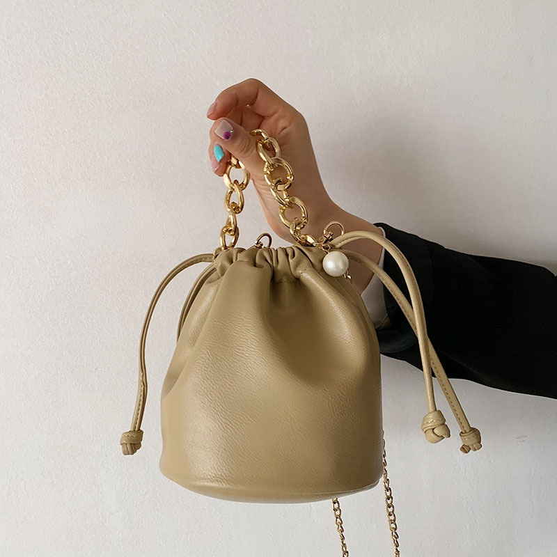simple new trendy fashion chain bucket bag NHLH325832