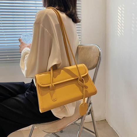Bolso de mano de gran capacidad con textura de moda para las axilas con un solo hombro NHLH325835's discount tags