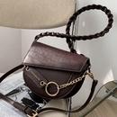 Korean chain solid color saddle bag NHLH325837