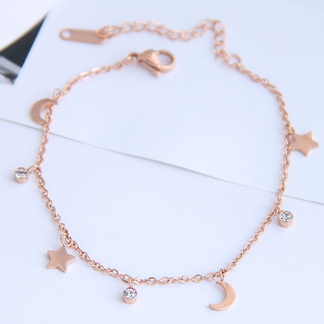 Korean fashion titanium steel star moon bracelet NHSC326149's discount tags