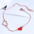 Bracelet en acier titane simple amour de la mode corenne NHSC326148