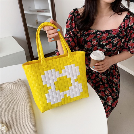 Fashion color woven portable bag NHTG325870's discount tags