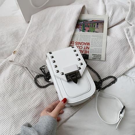 Sac carré à bandoulière avec chaîne à rivets à la mode NHTG325881's discount tags