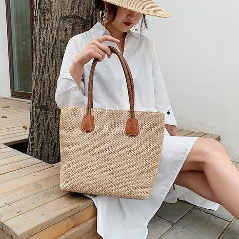 new korean fashion large-capacity retro woven bag NHTG325883's discount tags