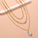 crystal cluster pendant multilayered necklace  NHAN325915