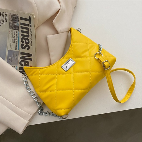 sac porté épaule à chaîne géométrique simple rétro NHRU325943's discount tags