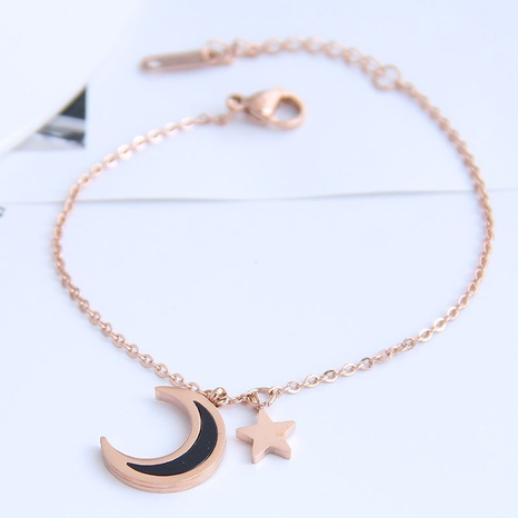 Korean fashion titanium steel star moon bracelet NHSC326137's discount tags