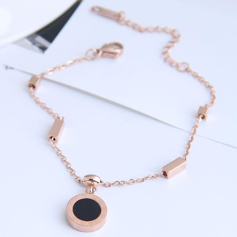 Bracelet en acier titane simple de mode corenne NHSC326134