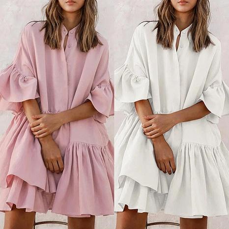 Falda de una pieza de gama alta de gasa suelta de color sólido de moda de verano para mujer NHWA327548's discount tags