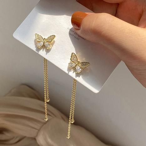 einfache Schmetterlingsquaste lange Ohrringe NHOT328431's discount tags