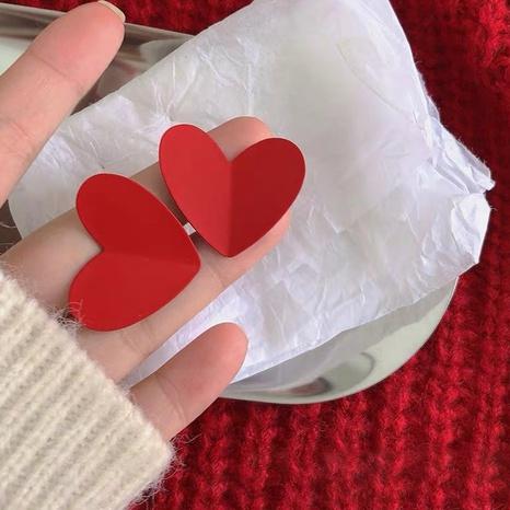 Mode einfache rote Liebesohrringe NHOT328417's discount tags