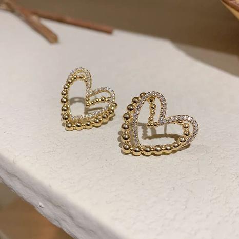 einfache herzförmige Ohrringe NHOT328404's discount tags